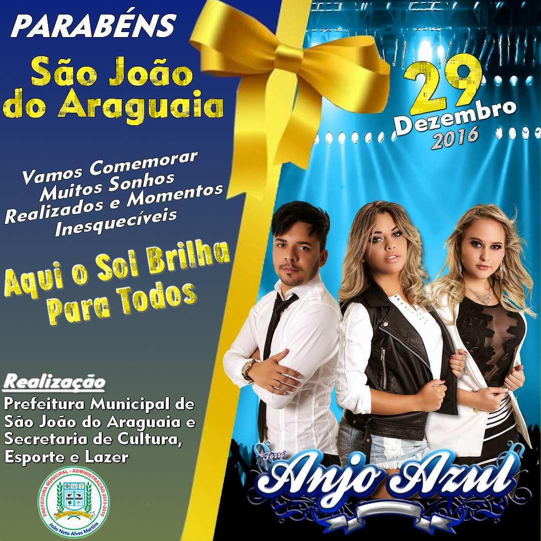 Alô meu Pará, estado que sempre nos recebe tão bem. Dia 29 de Dezembro tem Forro Anjo Azul em São João do Araguaia/PA. Comemorando o aniversario dessa cidade linda. Vem Pra Festa Com a Anjo… Leia Mais